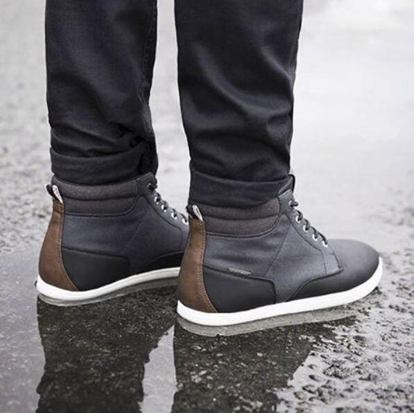 JACK & JONES FOOTWEAR #sneakers #brown #black #leather #whitesole #waterproof #style #ootd
