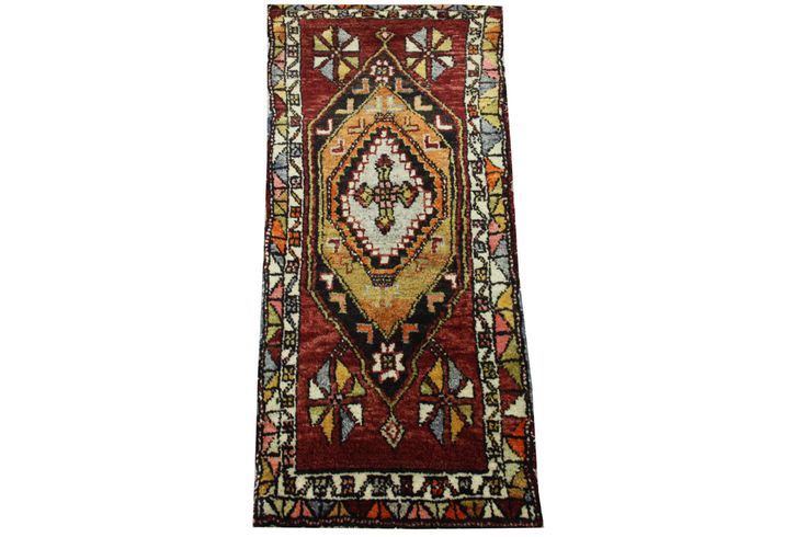 Doormats Turkish rugs handmade 3,5 x 1.6 Feet Decorative pattern bathmats Small size rugs Boho Rug Handwoven rug natural dye wool rug HY-33 by stripepattern on Etsy