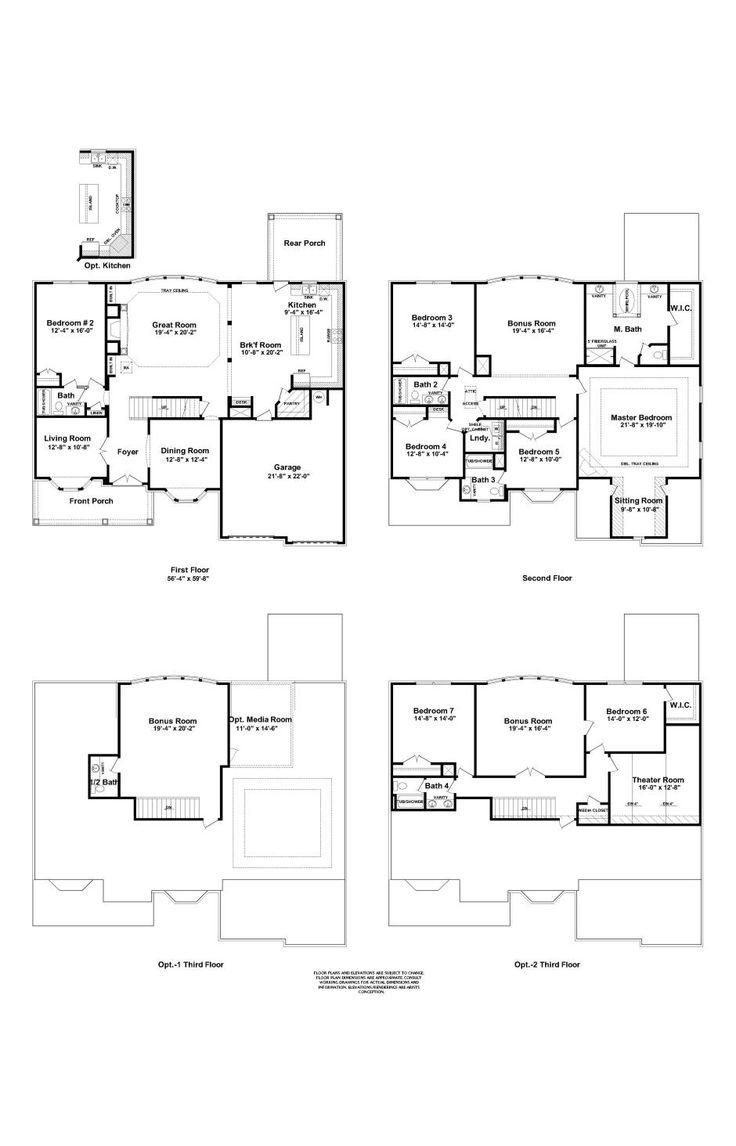 134 best nice house images on pinterest house floor plans 4000 1 floor plan