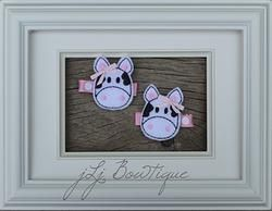 Light Pink Cow Hair Clips -$5.00 for pair available on jLj Bowtique