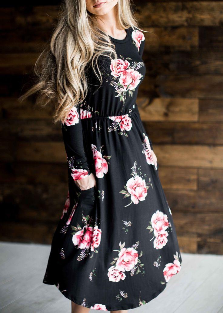 midi dress, floral, floral midi dress, easter dress, easter, fashion, style, women's fashion, ootd, blonde, blonde hair, jessakae