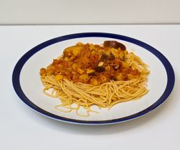 Fresh spaghetti sauce--obviously sans noodles!
