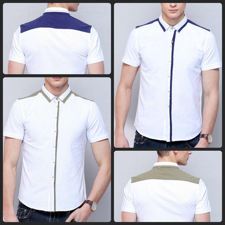 Xmas Sale!!! Contrast coloured short sleeve shirts-$25.00
