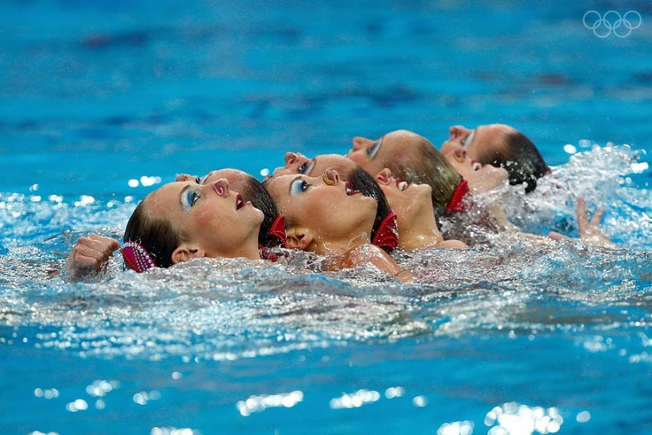 BEIJING - AUGUST 23:  The UNited States team competes during the synchronised swimming event held at the National Aquatics Center on Day 15 of the Beijing 2008 Olympic Games on August 23, 2008 in Beijing, China.  (Photo by Jamie Squire/Getty Images)