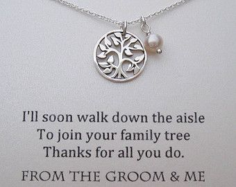 Mother of The Groom Necklace Mother of the by WearableWhispers...