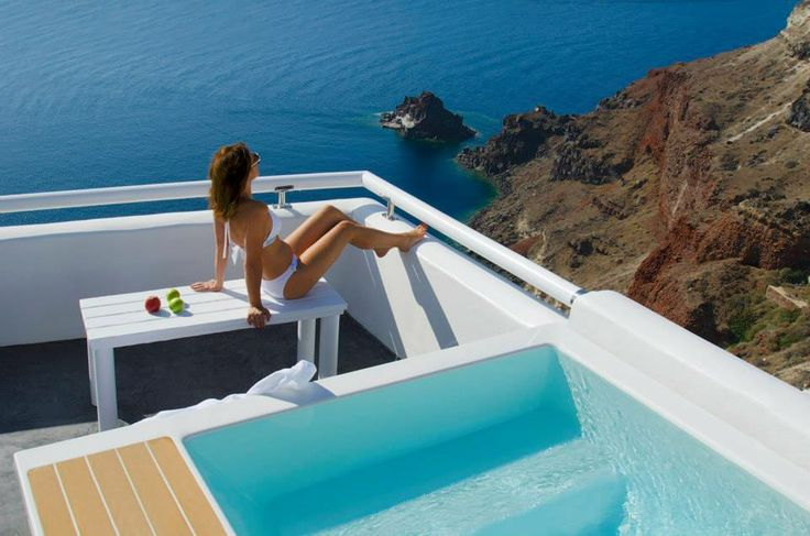 Great terrace at Aspaki Exclusive Suites. Image waking up at this view!