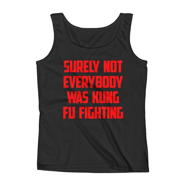 Kung Fu Fighting (Red Text) - Women's Tank Top