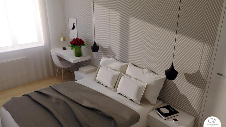 #small #bedroom #renovation - 3D Visualization - by Oli Interior Design Studio #modern  #grey #elegant #interiordesigner #edesign #onlineservice