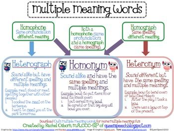 What is a Multiple Meaning Word?
