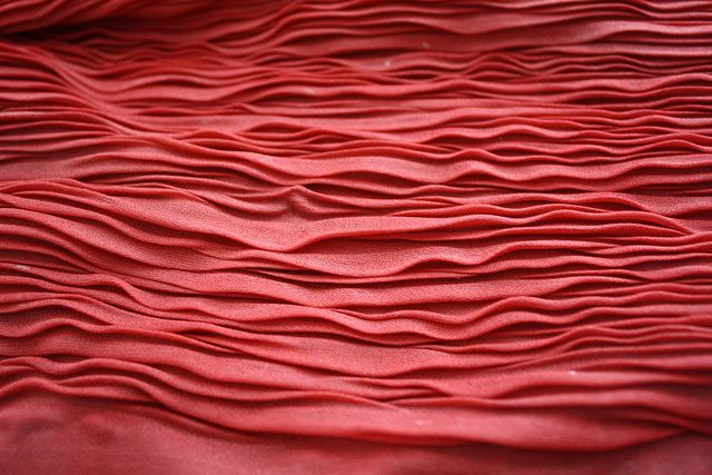 lovely pleating  (fabric manipulation by Sarah Bell Smith, via Flickr)