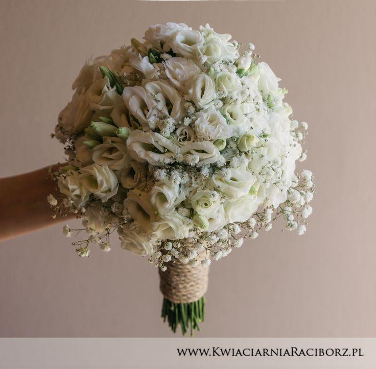 Wedding bouquet bukiet ślubny eustoma biały