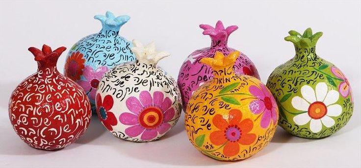Paper mache pommegranates for a happy new year-Liatart.com