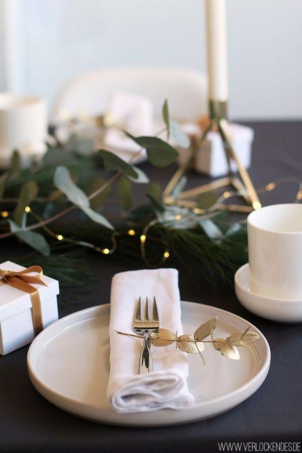 Tischdeko Weihnachten Weiss Gold Weihnachtsdeko Weihnachten