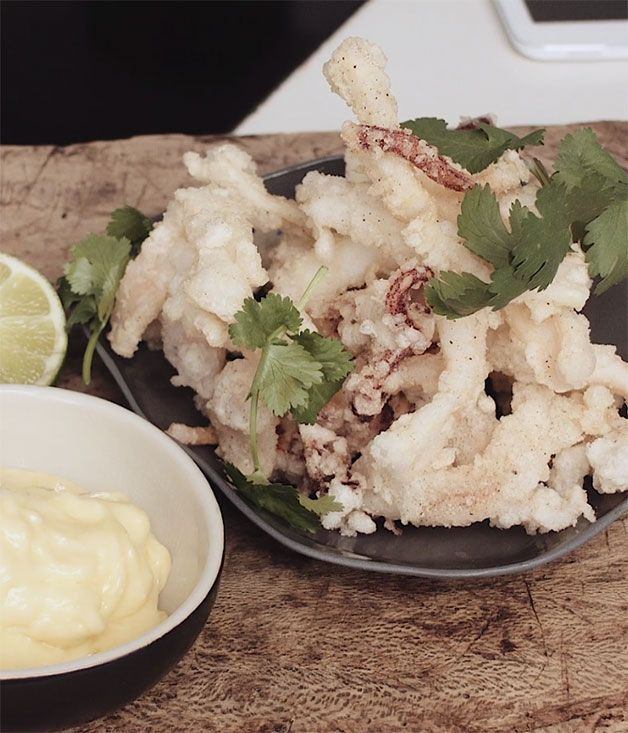 The executive chef shares his salt and pepper squid recipe, including his secret for the crispiest, lightest batter.