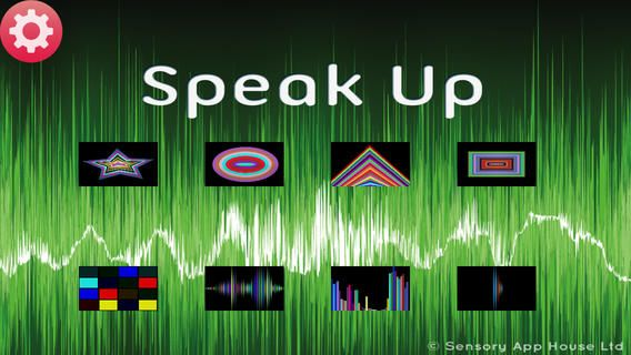 Sensory Speak Up - speech therapy simple game to encourage vocalizing or making sounds ($0.00) a visually stimulating simple game style app that responds to sounds. Can be used to encourage children to vocalize and make sounds, either through the internal microphone or via & external microphone.  Designed to assist with speech therapy, the louder the voice sound, the bigger the shape or pattern becomes.  Different activities either give a gross display of the volume or a short trail of…