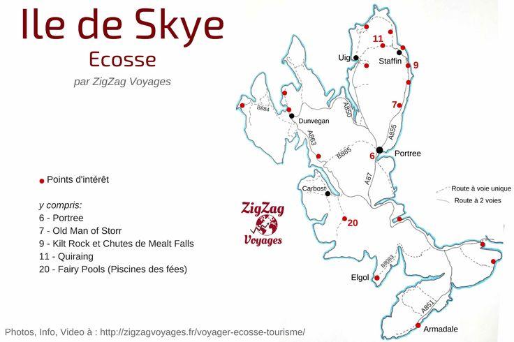 Visiter l'ile de Skye Ecosse – Carte, Photos, Infos Pratiques, Lieux d'intérêt