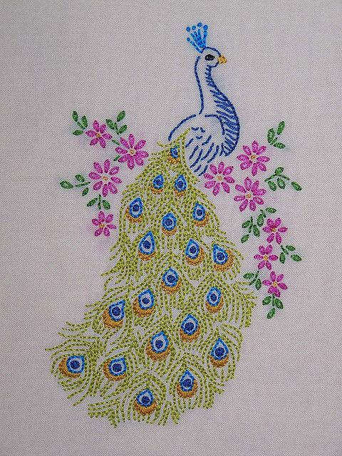 Peacock Embroidery Embroidery Patterns Pictures