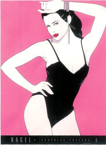 Patrick Nagel (November 25, 1945 – February 4, 1984) 80's style pin ups. His work was everywhere.