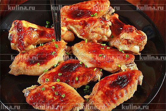 Куриные крылья в глазури - рецепт с фото