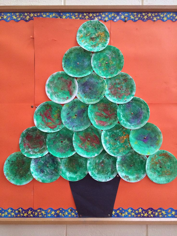 Christmas Art And Craft Ideas For Babies Part - 21: Mrs. Jonesu0027 Paper Plate Christmas Tree Craft For Kids