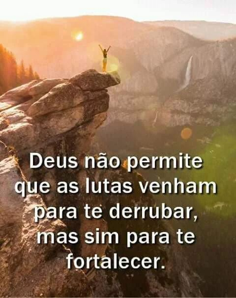 Deus não permite que as lutas venham para te derrubar...