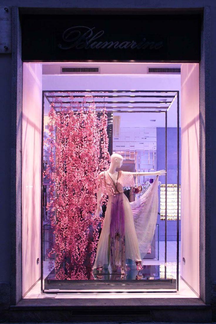 Blumarine Milan Boutique Windows - February 2013                              …