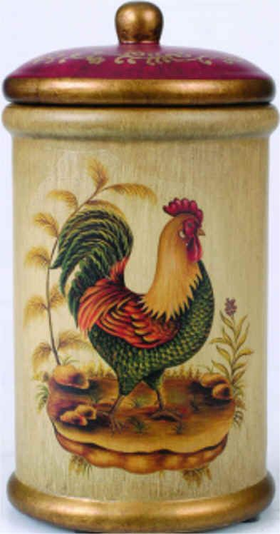 Rooster Kitchen Decor | you desire. Look for antique canisters and design a Victorian kitchen ...