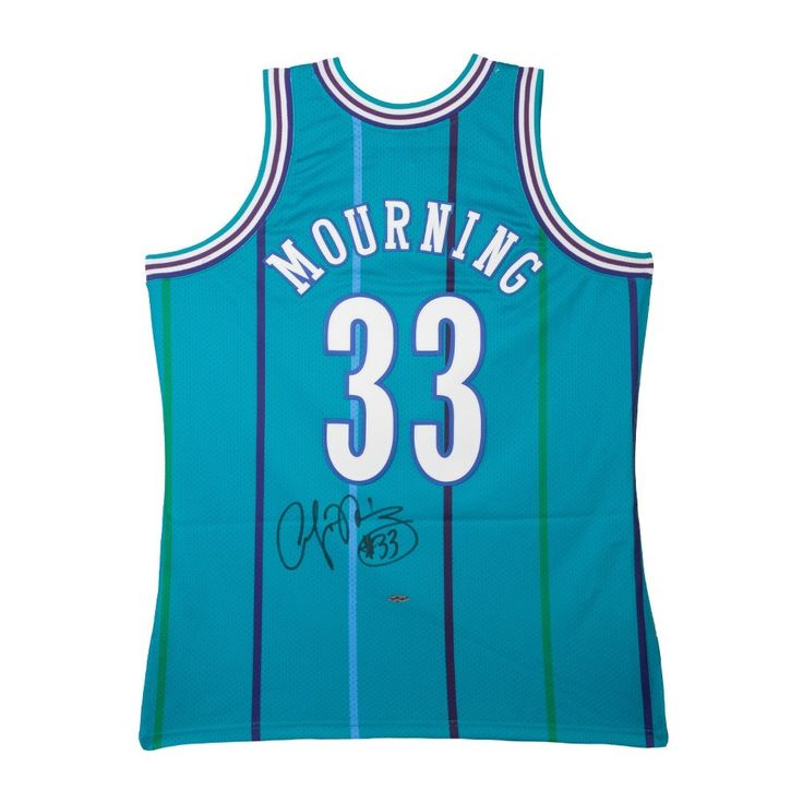 ALONZO MOURNING Autographed Authentic Hornets Jersey UDA - Game Day Legends