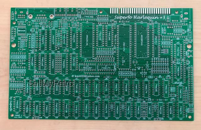 Superfo Harlequin 3 Zx Spectrum 128k 3 Clone Pcb New Version