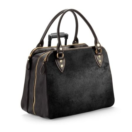 Buffalo Cabin Bag in Black Calfskin with Black Haircalf
