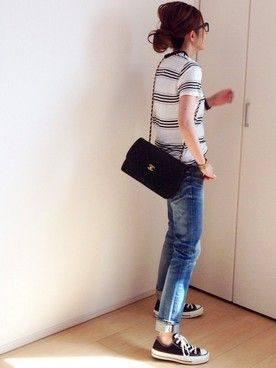mayumiさんの「ルーズデニムシャツ(TODAYFUL|トゥデイフル)」を使ったコーディネート