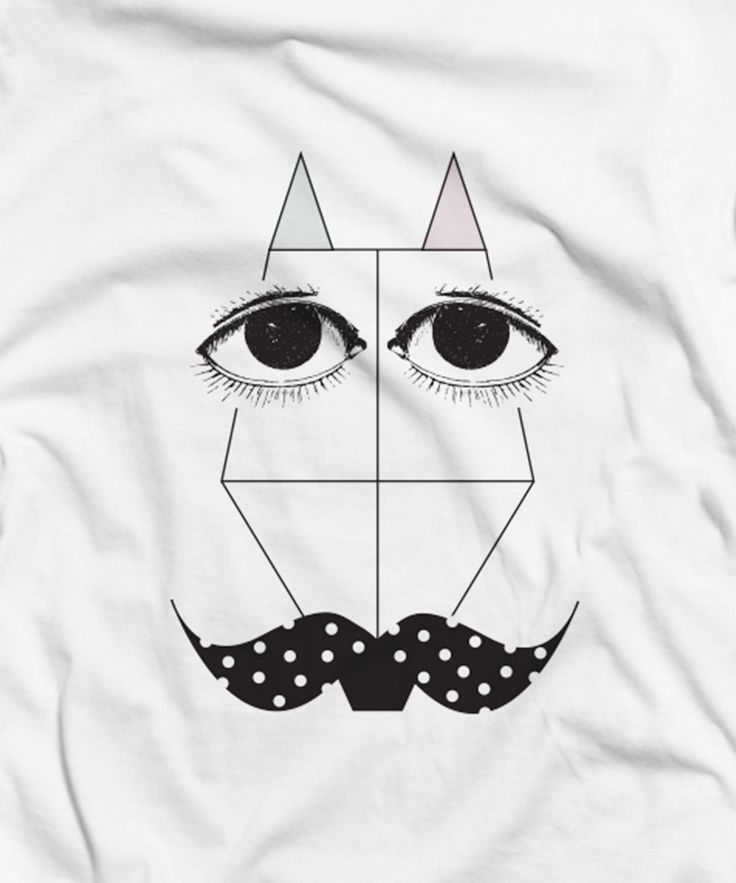"""""""A fox with a polka dot moustache"""", organic cotton t-shirt by Rooftop."""