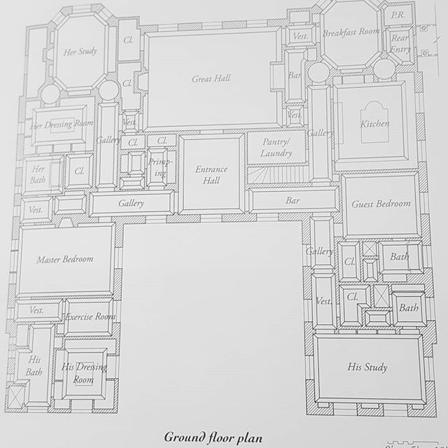 Our Aim In Designing This Residence Was To Create A Modest Version Of Homes That One Would Find In Versailles One Of Floor Plans Ground Floor Plan Maine House