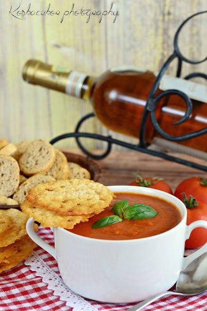 Koskacukor: Sültparadicsom-leves, parmezáncsipsszel