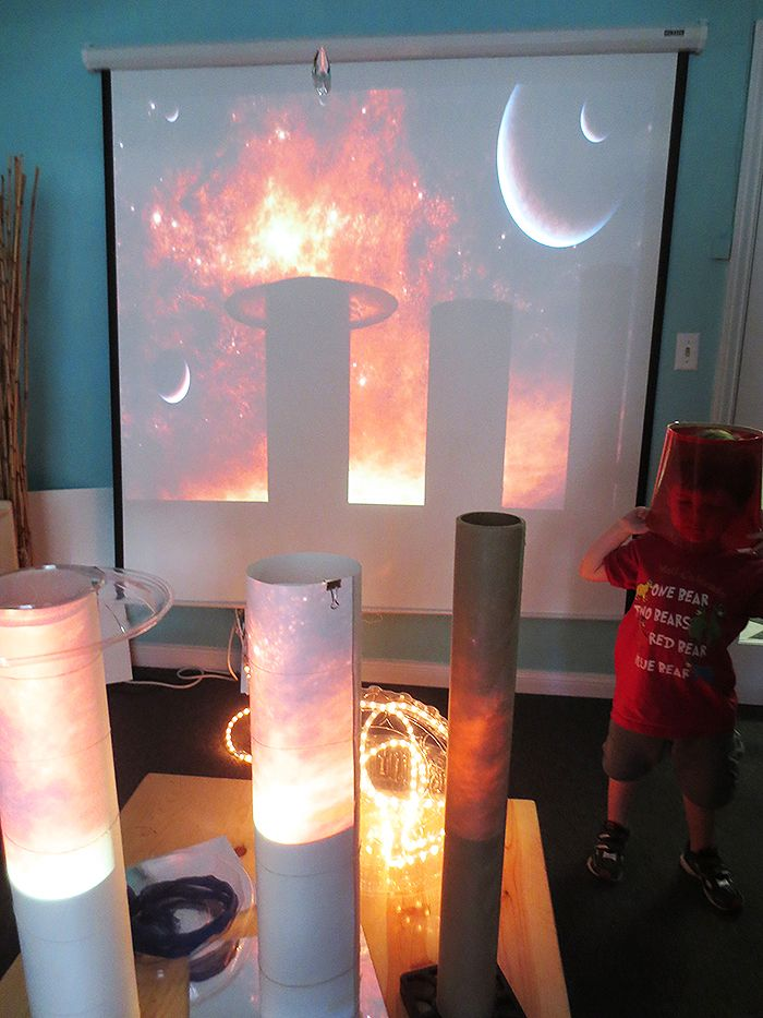 In dialogue with light at Pacific Palisades Preschool in Santa Monica, CA
