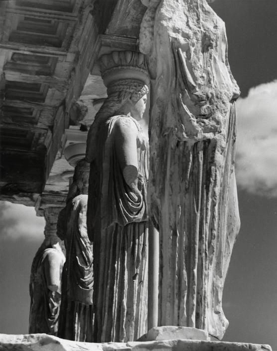Herbert List - GREECE. Athens. The Acropolis. Parthenon. Column fragments. 1937.