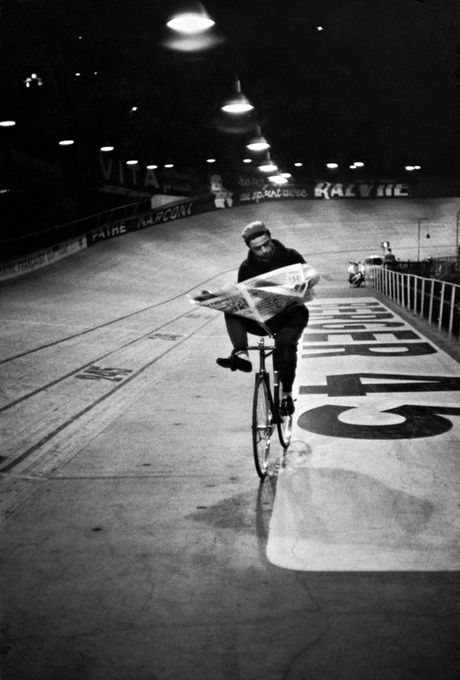 One of the velodrome pictures from Cartier-Bresson's 1957 Six Days in Paris series. Photograph: Henri Cartier-Bresson.