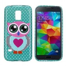 Forro Gel Samsung Galaxy S5 mini Design Animales Buho 26 $ 14.500,00