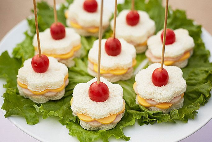 To give Birthday Express's flower sandwiches a more authentic feel, use a green toothpick, which doubles as a stem.