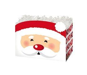 """Small Box Santa  6¾"""" x 4"""" x 5""""-49313"""