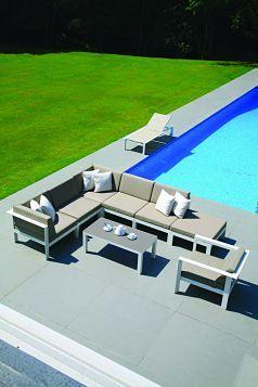 Aluminium garden furniture from the Westminster Manhattan range.