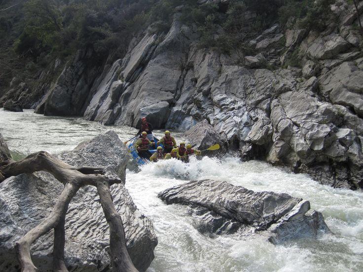 rafting in Lousios river!