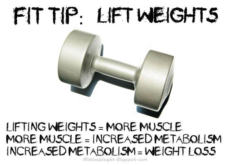More muscles=increased metabolism