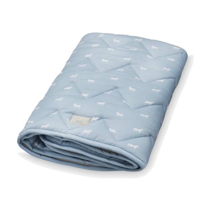Gorgeous nursery baby blanket in dusty blue by popular Danish brand CAM CAM is now available online at Designstuff.