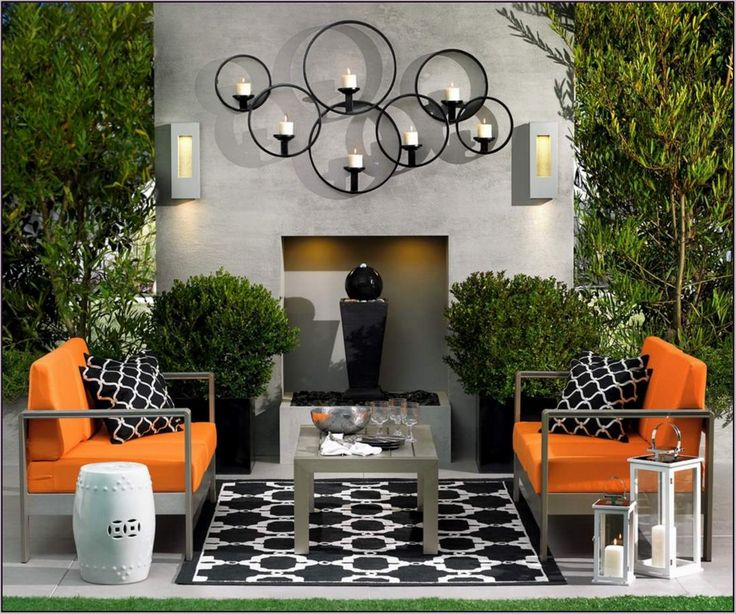 Modern Wall Decor For Patio : Best modern outdoor wall art ideas on lays