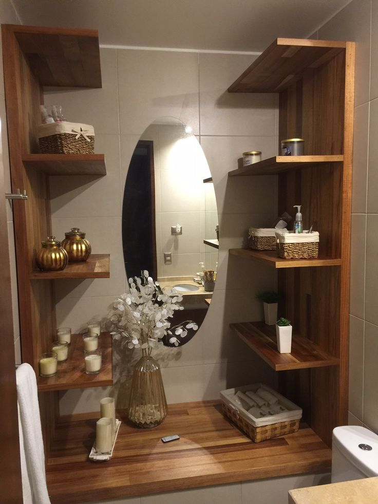 mueble de baño en madera de aromo