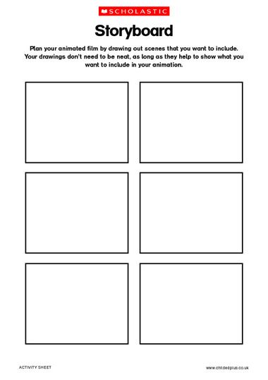 Best Animation Images On   School Storyboard Template