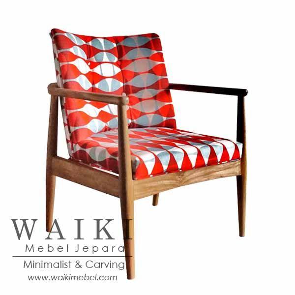 Hotel Living Chair - Kursi tamu minimalis kontemporer. Waiki Mebel produsen furniture kursi retro scandinavia Jepara vintage living chair manufacturer.