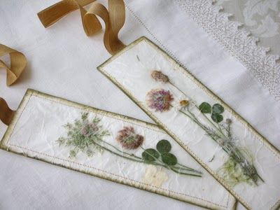 Tutorial on how-to make a dried, pressed flower book marker.  Would make a nice gift with a card.