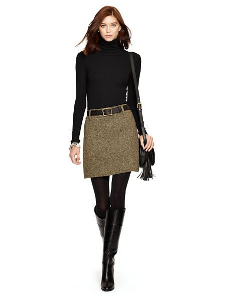 Wool-Blend-Tweed Miniskirt - Best Sellers Women - RalphLauren.com